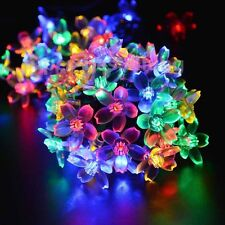50 Led Solar Powered Cherry Blossom Sakura String Fairy Lights Christmas Décor