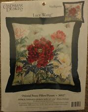 CANDAMAR NEEDLEPOINT KIT ORIENTAL PEONY New n package Out of production Lilacs