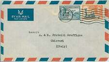 TRAINS : GOLD COAST -  POSTAL HISTORY : from KUMASI to ITALY 1952