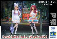 MasterBox 1/35 Model Kit 35187 Kawaii Fashion Leaders Minami and Mai