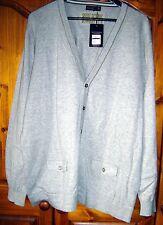 Mens gris Saint George de zoquete Cardigan Talla XL Nuevo con etiquetas