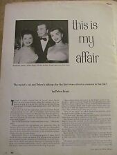 Debra Paget, Two Page Vintage Clipping