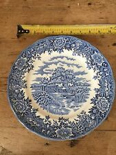 ALFRED MEAKIN BLUE & WHITE 'ENGLISH VILLAGE' DINNER PLATE