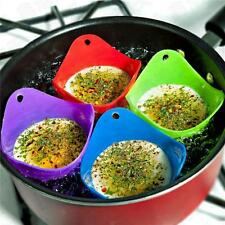 4pcs Silicone Egg Poacher Poaching Poach Cup Pods Mould, MULTI-COLOURED Cooking