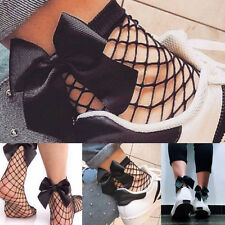 Women Girls Fashion Ruffle Fishnet Ankle High Socks Mesh Lace Fish Net Socks
