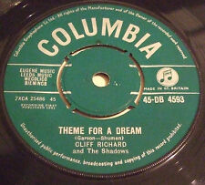 CLIFF RICHARD 1961 UK 45 - THEME FOR A DREAM