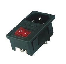 Los dispositivos en frío enchufe de instalación copia de seguridad interruptor IEC 320 c14 veces Plug switch Fuse
