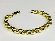 14kt SOLID Yellow Gold Rolo Link Bracelet 7.5 Inch 15 grams 7 MM