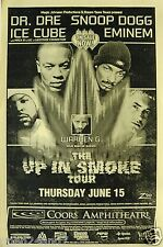"""EMINEM / SNOOP DOGG / ICE CUBE /DR. DRE """"UP IN SMOKE TOUR"""" 2000 SAN DIEGO POSTER"""