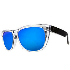Electric Visual Flip Side Black Crystal / Grey Blue Chrome Sunglasses