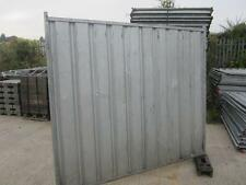 Heras Temporary Fencing On Ground Hoarding panel Site Security Safety USED BLUE