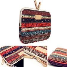 "Bohemian Canvas Laptop Sleeve Case Bag Cover for 15.4"" 15.6"" Macbook Notebook"
