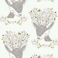 Camelot Hello My Deer 2143701 1 Portrait   BTY Cotton Fabric  BTY