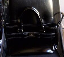 AUTHENTIC KATE SPADE PRIMROSE HILL GOLDIE BOW LEATHER SATCHEL PURSE $428 BLACK