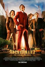 Anchorman 2 DOUBLE SIDED ORIGINAL Double Sided MOVIE film POSTER Will Ferrell