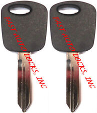 2 (PAIR) NEW Ford PATS Transponder Chip Key Blank - USER PROGRAMMABLE