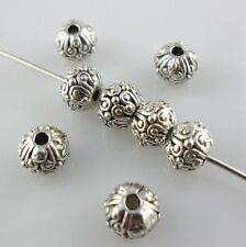 20pcs Tibetan Silver Round Spacer Beads 5x6.5mm Charms Jewelry Beading Making