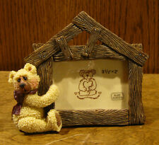"""Shelly Bear Frame #30024 """"LOG HOUSE"""",  by Heartfelt, NEW from Retail Store"""