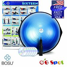 Bosu Ball Pro 65 cm Balance Trainer Gym Unit Exercise + Workout Dvd's and Pump