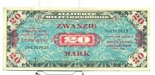 GERMANY ALLIED OCCUPATION WWII Allied Military Currency 1944 20 Mark