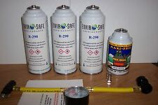 Air Conditioning REFRIGERANT refrigeration gas KIT/ 3 CANS R-290 R22 a +Stopleak