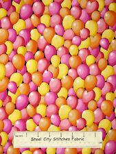 Kids Birthday Party Balloons Girl Pink Cotton Fabric QT 23548-P Party On YARD