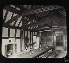 GWW Glass Magic lantern slide GUILD CHAMBER STRATFORD UPON AVON C1890
