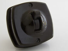 Britmac Vintage Bakelite Toggle Light Switch 1Way 1Gang Recessed