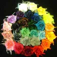 7 MIXED FLOWER ELASTIC  HAIR BOBBLE WRISTBAND  CORSAGE. YOU CHOOSE COL
