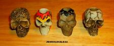 Lot Of 4 Skull Cigarette Snuffers-Hand Painted-Colorful-NICE