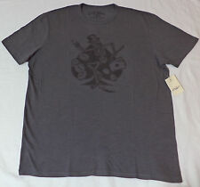 NWT Lucky Brand Short Sleeve Gray Graphic T-Shirt Dancing Skeleton   M     F266