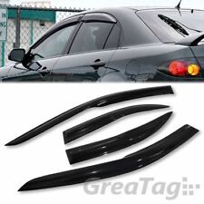 FOR 2003-2008 MAZDA 6 SEDAN 4 DOOR SMOKED VENT WINDOW VISOR WIND DEFLECTOR JDM