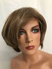"CHARMING SHORT STRAIGHT CAPLESS SYNTHETIC HAIR WIG PIECE 8"" GOLDEN BROWN $165"