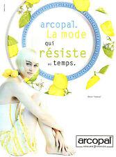 """Publicité 1997  ARCOPAL assiette cuisine table décor """"Valence"""" vaisselle"""