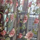 Newly Flower Sheer Curtain Panel Window Door Curtain Room Divider Voile Drape