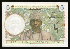 FRENCH WEST AFRICA 5 FRANCS 1941 AU /UNC P.25
