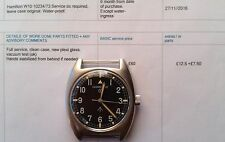 British Military Hamilton W10 Army/Navy/RAF/M.O.D Mechanical Hack Watch Serviced