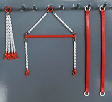 "Evot Brass Crane Spreader Bar Set 2.5"" Authentic Link Belt Red. 1:87th. USA Made"