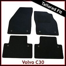 Volvo C30 2006-2013 Fully Tailored Fitted Carpet Car Mats BLACK