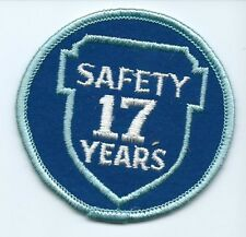Greyhound Bus, driver patch, 17 Safety Years. 3 inch diameter