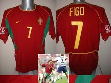 Portugal Luis Figo Madrid Nike Shirt Jersey Football Soccer Adult L Maglia Top