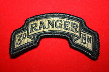 GENUINE US ARMY 3RD RANGER BN SHOULDER TAB MULTICAM MCU CLOTH VELCRO PATCH