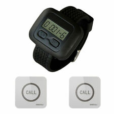 SINGCALL. Wireless Service Calling Pager System, 1 Watch with 2 Touchable Bells