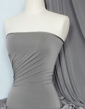 Silk touch 4 way stretch lycra fabric Cloud Grey Q53 CGR