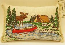 """BALSAM FIR PILLOW 3.5"""" x 5"""" MOOSE canoe tent river pine scent potpourri"""