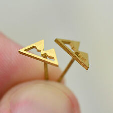 Mountain Silhouette Earring Studs - 24k Gold Plated Stainless Steel Earrings
