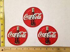 3pc Coca Cola Coke Large Bottles Circles Fabric Applique Iron On