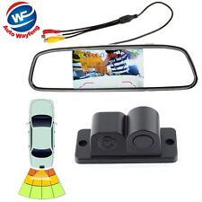 "4.3""Car Reverse Rear View Mirror Display Monitor+Backup HD Camera & Radar Sensor"