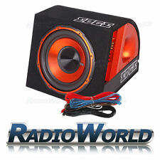 "750W EDGE 10"" Active Subwoofer / Enclosure Sub Boom Box & Amp + Wiring Kit EDB10"