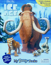 Ice Age My Busy Books Set Story 12 Figurines, A Storybook and A PlayMat - New